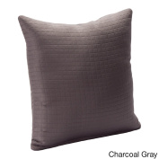 SIScovers Modern Spa Solid Square Stitched Accent Pillow Grey 20 x 20