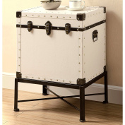 A line Furniture Traveller Design Trunk Style Accent StorageTable with Metal Frame