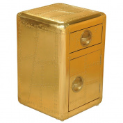 Sofaweb.com Distressed Gold Aluminium Aviation Accent Chest