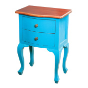 Sofaweb.com Blue Finish Accent Chest with Honey Finish Top
