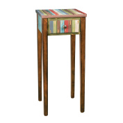 Sofaweb.com Distressed Vintage Chestnut Finish Accent Table