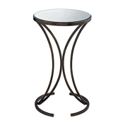 Sofaweb.com Antique Bronze Finish Accent Table with Mirrored Top