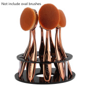 Toothbrush Brush Makeup Holder, EMOCCI Make Up Organiser Comestic Display 10 Holes Acrylic Drying Rack