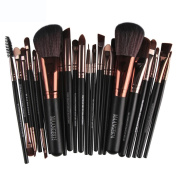 13.5cm MFahion Black 22pc Cosmetic Makeup Brush Blusher Eye Shadow Brushes Set Kitakeup Brushes Powder Concealer Blush Liquid Foundation Make up Brush Prettymenny