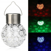 Solar Light, Hatop Waterproof Solar Rotatable Outdoor Garden Camping Hanging LED Round Ball Lights