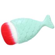 Allywit Fish Scale Makeup Brush Fishtail Bottom Brush Powder Blush Makeup Cosmetic Brushes Tool