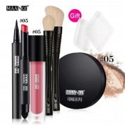 Allywit Blusher Lip Gloss Shimmer Eyeshadow Palette Makeup Kit Brush Cosmetic Set