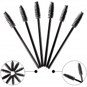 BeautyU & Me 150pcs Disposable Eyelash Extension Brushes Black Mascara Wands Applicator