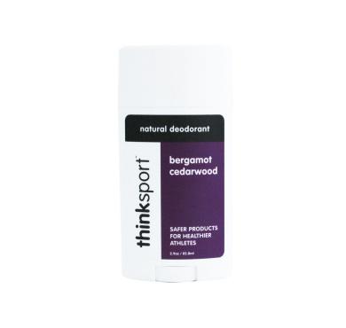 thinksport Deodorant, Purple/White/Black, Bergamot Cedarwood, 90ml