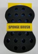 Afro Magic Wave Sponge Double Side Medium [Small & Big Hole] Hair Brush