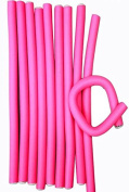 Pink Foamy Flexy Soft Comfortable Twist Curls Hair Rollers