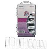 Nacome New 100 Pcs Fake Artificial Nails Sticker Natural Acrylic False Toe Nails Tips