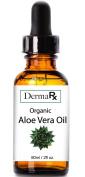 DermaRx Organic Pure Aloe Vera Oil - cold-pressed USDA Certified - Anti-inflammatory, Anti-bacterial, Anti-viral, Antifungal, Antioxidant, and Astringent activity
