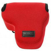 First2savvv QSL-RX10-08 red Neoprene Camera Case Bag for Sony Cyber-Shot DSC RX10