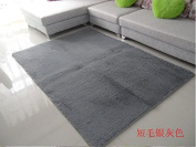 Norson Home Textiles, Ultra Soft 3 Cm Thick Indoor Morden Area Rugs Pads, New Arrival Fashion Colour [Bedroom] [Livingroom] [Sitting-room] [Rugs] [Blanket] [Footcloth] for Home Decorate. (Grey, 78.7* 118.1 inches