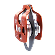 GM CLIMBING 32kN UIAA Certified Large Rescue Pulley Single / Double Sheave with Swing Plate CE / UIAA