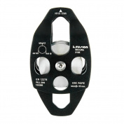 Fusion Climb Secura Double Aluminium Side Swing Pulley Matte Black 32KN