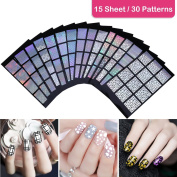 ETEREAUTY Nail Vinyls Stencil Stickers Set,Different Designs for Party, Holiday, Birthday, Wedding and More Occasions --180 Pieces