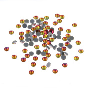 Nizi Jewellery Hotfix Rhinestones New Red Rainbow Colour SS4 1.5MM 1440PCS Nail Art Strass Shiny Stone Diy Craft Tiny Rhinestone Perfect for Nail art