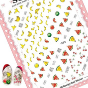 2017 newest SOLONAIL no.52 colourful fruits designs 3d nail art sticker decal nail art decal supplier