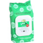 Yes to Cucumbers Facial Towelettes - Soothing - Hypoallergenic - 30 Count - Case of 3
