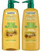Garnier Triple Nutrition Shampoo and Conditioner Set, 1180ml Each