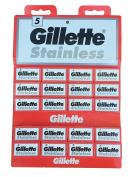 100 GiIIette Stainless Double Edge Safety Razor Blades