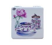 Tea Time Compact Personal Travel Mirror 5.7cm x 5.7cm Square