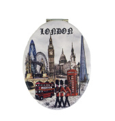 London England Compact Personal Travel Mirror 8.9cm x 6.4cm Oval