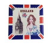 London England Compact Personal Travel Mirror 7cm x 7cm Square
