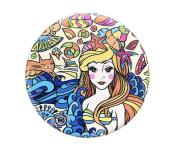 Mermaid Ocean Compact Personal Travel Mirror 7cm x 7cm Round