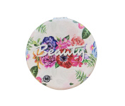Floral Beauty Compact Personal Travel Mirror 7cm x 7cm Round