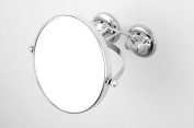 No Fog Shower Mirror Double Sided 1X/3X Magnifying 360 Degree Swivel Rotation and Locking Suction Personal Bathroom Shaving Mirror (Chrome) 15cm