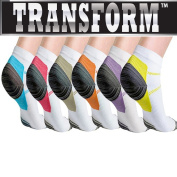 Multi Colour Unisex Ankle-Length Compression Socks (6 Pack) DEAL!