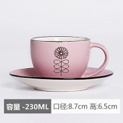 Coffee cup and Saucer Set, ceramic mug features garden cup.,Three