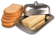 Ibili Stainless Steel Butter Dish with Cover Lid