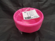 30 x pink plastic party bowls - 12cm and depth 5cm for all occasions