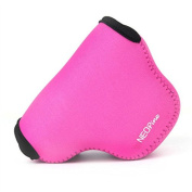 First2savvv QSL-NX500-02 pink Neoprene Camera Case Bag for Samsung NX500 with 16-50mm LENS