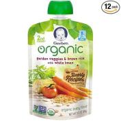 Gerber 2nd Foods Organic Garden Vegetable Brown Rice Baby Food, 100ml -- 12 per case.