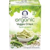 Gerber Graduates Organic Veggie Crisps, Green, 10ml