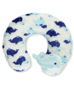 "Cribmates Unisex Baby ""Dolphin Care"" Neck Pillow - aqua/white, one size"