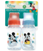 "Disney Mickey Mouse ""Playtime"" 2-Pack Wide-Neck Bottles - blue, one size"