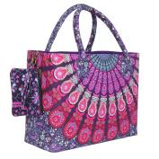 . Mandala Print Spacious Beach Bag for a Perfect Holiday