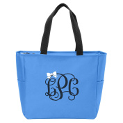 Bow Monogrammed Tote