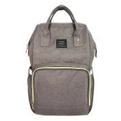 Globalwells Mummy Maternity Backpack Travel Bag Multifunction Baby Nappy Nappy Changing Handbag tote bag dark grey