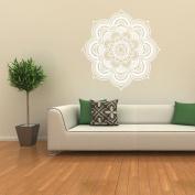 Sticker Floral, ZTY66 Indian Mandala Flower PVC Mural Sticker for DIY Home Decor