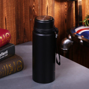 Axiba- Stainless Steel Water Bottle Vacuum Thermos Portable Insulated Water Bottle Double Wall Design Tea Cup Travelling 800ml,Black