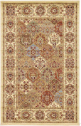 1.5m by 2.4m (1.5m x 2.4m) Agra Cream Area Rug