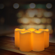 ELEOPTION Indoor/Outdoor Flameless Resin Pillar led Candle with 6 Hour Timer
