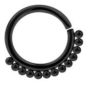 16g 5/16 septum jewellery nose hoop earrings daith cartilage nostril helix Annealed Surgical Steel Black PVD Pick Colour